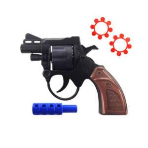 Револьвер под пистоны 15.5см «Yingpai 888» пластиковый,пакет,15.5х10х2.2см (288/576) 00008719