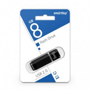 USB 2.0 флеш-накопитель 8Gb Smartbay Quartz Series черная,колпачек,58х19мм [SB8GBQZ-K] БЗ000824