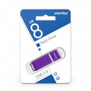 USB 2.0 флеш-накопитель 8Gb Smartbay Quartz Series фиолет.,колпачек,58х19мм [SB8GBQZ-V] БЗ000825