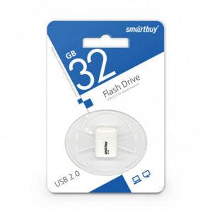 USB 2.0 флеш-накопитель 32Gb Smartbuy Lara Series белая,колпачек,20х19мм [SB8GBLara-W] БЗ000840
