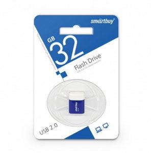 USB 2.0 флеш-накопитель 32Gb Smartbuy Lara Series синяя,колпачек,20х19мм [SB8GBLara-B] БЗ000841
