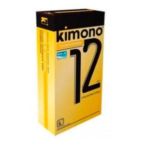 Презервативы «Kimono Супертонкие» гладкие,технология «шелк+В» (1блок=12уп.х12шт) БЗ002769