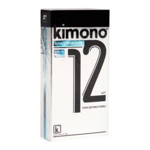Презервативы «Kimono Классические» гладкие,технология «шелк+В» (1блок=12уп.х12шт) БЗ002770