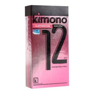 Презервативы «Kimono с ароматом Сакуры» гладкие,технология «шелк+В» (1блок=12уп.х12шт) БЗ002772