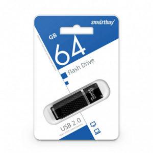 USB 2.0 флеш-накопитель 64Gb Smartbay Quartz Series черная, колпачек, 58х19мм [SB64GBQZ-K] БЗ007887