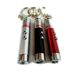 Фонарь-брелок металлический 2 в 1, 2диода+1лазер, NG-9619, карабин, 3хAG13 (1/24/600) БЗ008610