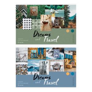 Альбом для рисования 40л. А4 «ArtSpace» Стиль. Dreams and travel на скрепке арт.А40_26270 (1/5) БЗ008724