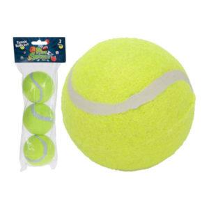 Набор мячей для большого тенниса 3шт. «ONLITOP» арт.4136123, жёлтый, d=64мм, пакет с европодвесом, ТОЛЬКО для СТИРКИ, вес: 60гр. (1/84) БЗ008792