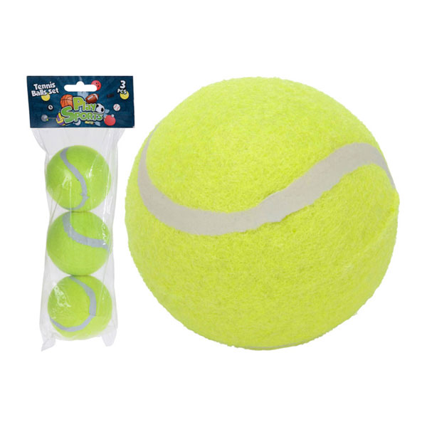 """Набор мячей для большого тенниса 3шт. """"ONLITOP"""" арт.4136123, жёлтый, d=64мм, пакет с европодвесом, ТОЛЬКО для СТИРКИ, вес: 60гр. (1/84) БЗ008792"""