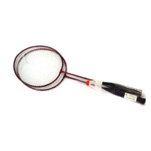 Набор для бадминтона 2 предмета арт.634829, 2 металлические ракетки, волан пластиковый (1/50) БЗ008795