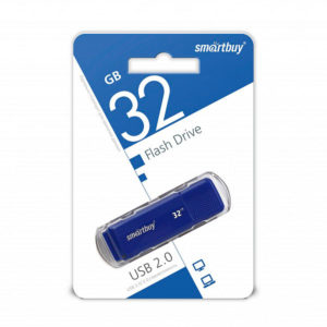 USB 2.0 флеш-накопитель 32Gb Smartbuy Dock Series синяя,колпачек,58х19мм [SB32GBCDK-B] Г0000010