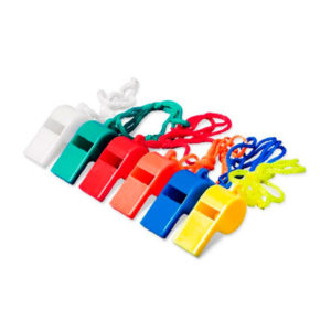 Свисток на шнурке пластиковый,однотонный арт.000042, цвет микс (24/2880) Г0000042