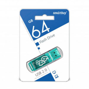 USB 2.0 флеш-накопитель 64Gb Smartbuy Clossy Series зеленая,колпачек,58х19мм[SB64GBGS-G] Г0001432