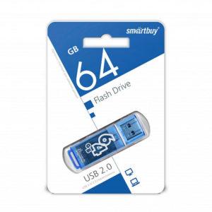 USB 2.0 флеш-накопитель 64Gb Smartbuy Clossy Series синяя,колпачек,58х19мм[SB64GBGS-В] Г0001433
