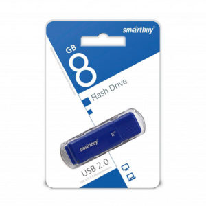 USB 2.0 флеш-накопитель 8Gb Smartbay Dock Series синяя,колпачек,58х19мм [SB8GBDK-B] О0001939