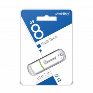 USB 2.0 флеш-накопитель 8Gb Smartbay Crown Series белая,колпачек,58х19мм [SB8GBRW-W] О0001940