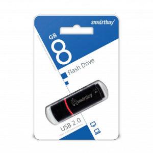 USB 2.0 флеш-накопитель 8Gb Smartbay Crown Series чёрная,колпачек,58х19мм [SB8GBRW-K] О0001941