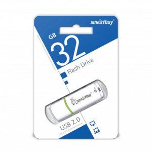 USB 2.0 флеш-накопитель 32Gb Smartbay Crown Series белая,колпачек,58х19мм [SB32GBCRW-W] О0001954