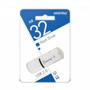 USB 2.0 флеш-накопитель 32Gb Smartbuy Paean Series белая,колпачек,58х19мм [SB32GBCPN-W] О0001955