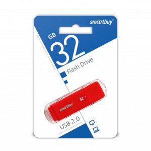 USB 2.0 флеш-накопитель 32Gb Smartbuy Dock Series красная,колпачек,58х19мм [SB32GBCDK-R] О0001956