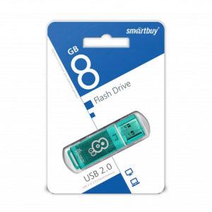 USB 2.0 флеш-накопитель 8Gb Smartbay Clossy Series зеленая,колпачек,58х19мм [SB8GBGS-G] 00004187