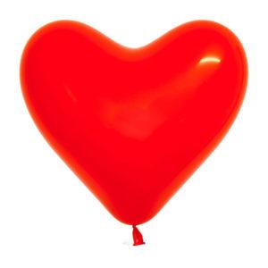 Gemar balloons Шар фигура 10″/25см 100шт. Сердце Кристалл красное, СИНЯЯ упаковка  (1/50) [CR/42] 00007550
