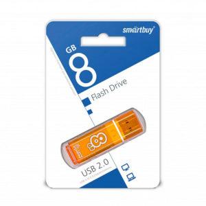 USB 2.0 флеш-накопитель 8Gb Smartbay Clossy Series оранжевая,колпачек,58х19мм [SB8GBGS-Or] 00008506