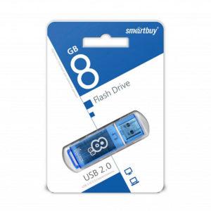 USB 2.0 флеш-накопитель 8Gb Smartbay Clossy Series синяя,колпачек,58х19мм [SB8GBGS-В] 00008720