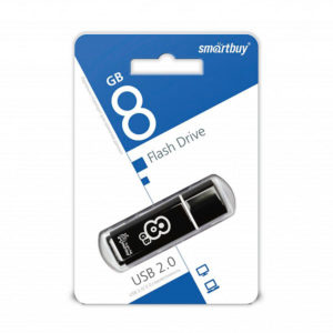 USB 2.0 флеш-накопитель 8Gb Smartbay Clossy Series черная,колпачек,58х19мм [SB8GBGS-К] 00008721