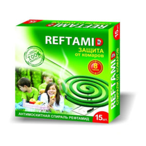 REFTAMID GREEN Спирали от комаров 10шт. зеленые, 8 часов (1/60) Г0000108