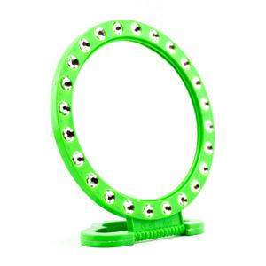 Зеркало настольно-подвесное пластиковое 5″/12.0см «Стразы» круглое (12/240) БЗ009288