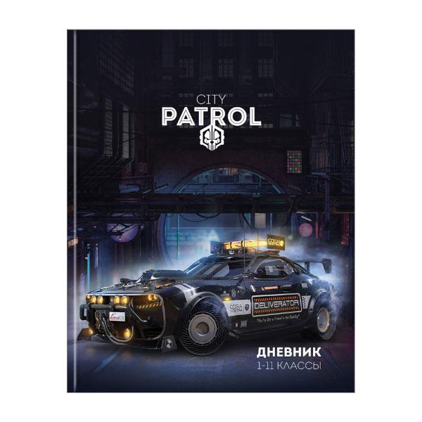 """Дневник 1-11 кл. 40л. ЛАЙТ """"Авто. City patrol"""", арт.Ду40лт_31113, глянцевая ламинация (1/10) БЗ009316"""