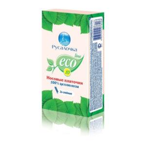 Бумажные носовые платочки двухслойные Русалочка «Eco Line» арт.078426(078433), белые, с ароматом яблока, 1блок=6уп. х 10шт. (6/360) кратно 6 уп. БЗ009387