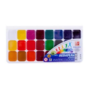 Краски акварельные 24 цвета «Луч» Классика, арт.19С 1294-08, без кисти, в картонной упаковке, с 3 лет (1/12/42) БЗ009498