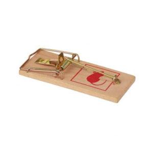 Мышеловка на деревянной основе 10см, малая «Mr.Mouse» арт.М070, 10х4.5х2см (1/200) БЗ004068