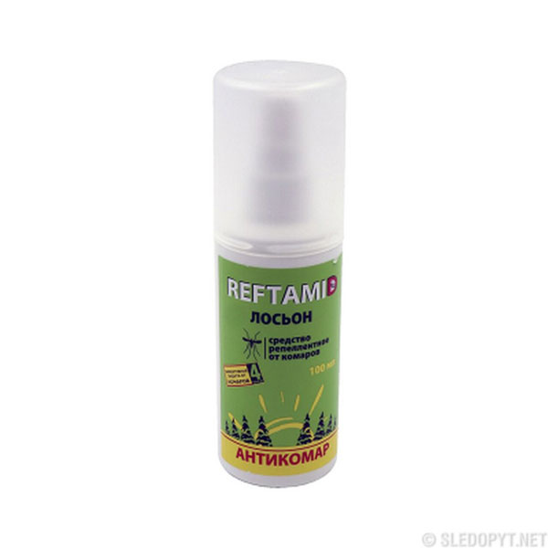 REFTAMID Спрей-лосьон от комаров 100мл., пластик. флакон,зеленый (1/27) БЗ009009