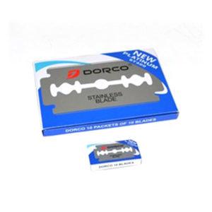 Лезвие двухстороннее для бритья «DORCO New Platinum» ST300-DP на карте (1упаковка=20пачек х 5лезвий) (1/12) БЗ009241