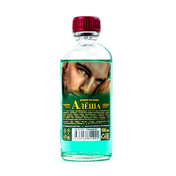 "Душистая вода без футляра Абар ""Алёша"", 100мл, 27%, стекло, термопак (1/53) БЗ009586"