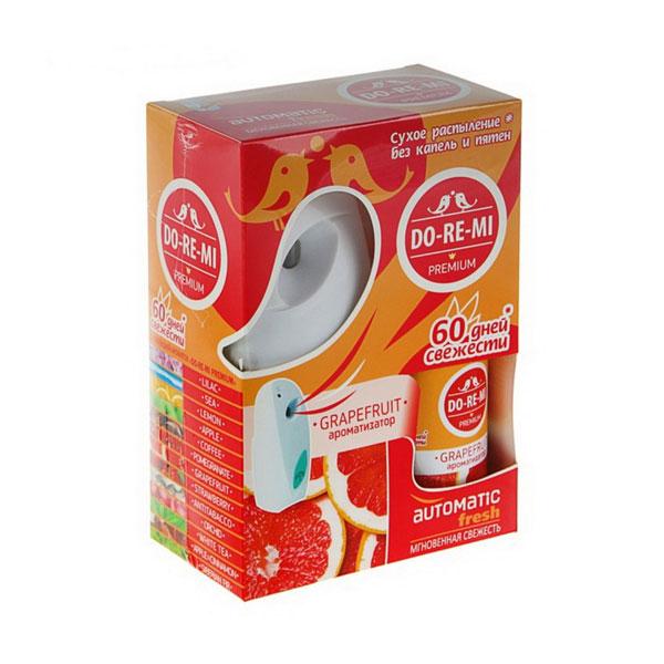Комплект До-Ре-Ми устройство+освежитель (Грейпфрут) (1/4) БЗ009933