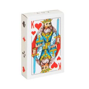 Карты игральные атласные «Poker А-54» B.F. №9810 [Король червей 54листа в колоде] 230гр/м2, в плёнке (10/100) 00002576