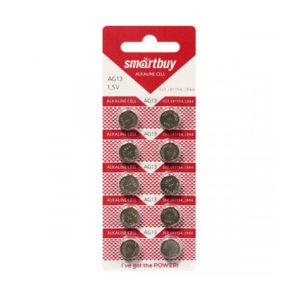 Батарейка для часов Smartbuy Alkaline AG13/357/LR44, 1.5В, блистер 10шт. (10/100/2000) [SBBB-AG13-10B] БЗ000738